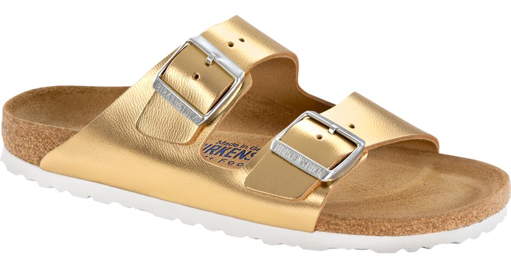 Birkenstock Arizona metallic gold