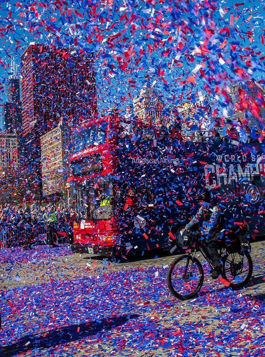 // Cubs World Series victory parade in Chicago,Nov 4,2016