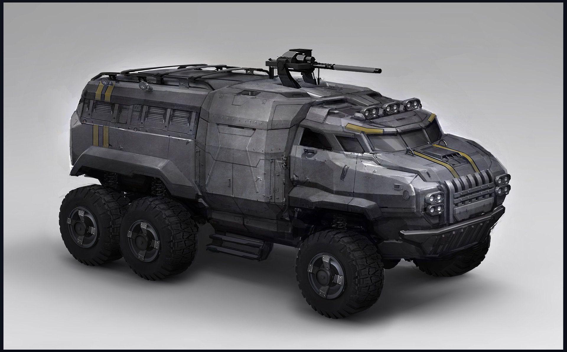 Artstation Sunderer Sam Brown Concept Art Vehicles