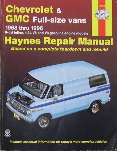 Haynes Chevrolet And Gmc Full Size Vans 1968 Thru 1996