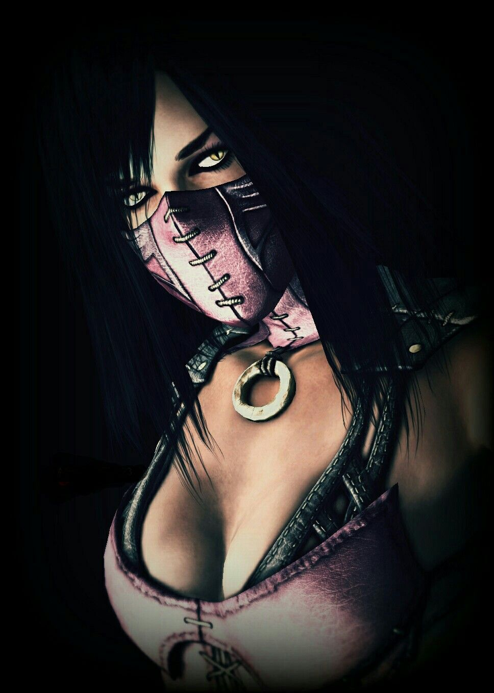 Mileena Mortal Kombat Phone Wallpaper