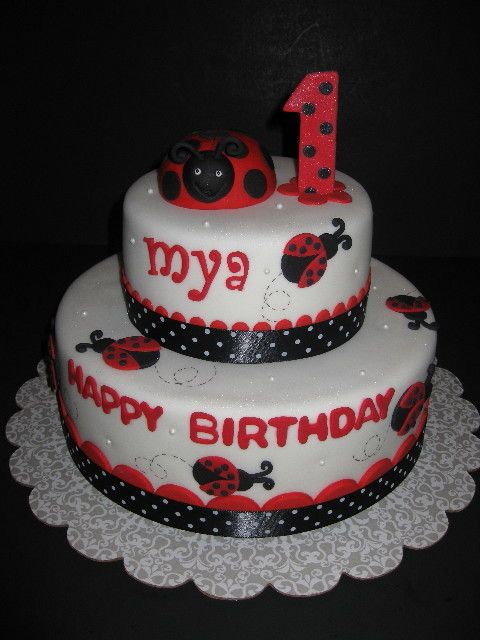 Miraculous First Birthday Cakes And Ideas For Girls Ladybug 1St Birthdays Funny Birthday Cards Online Kookostrdamsfinfo
