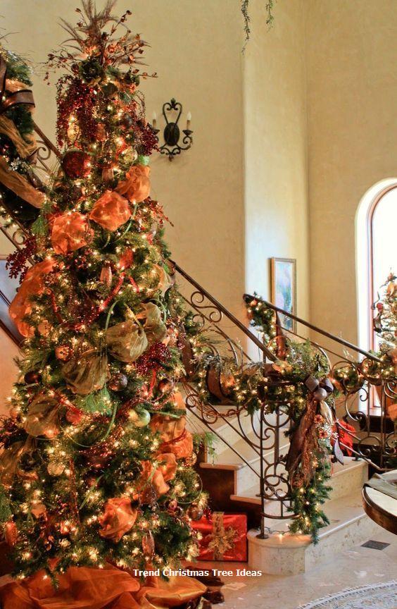 23 Christmas Tree Ideas Fall Christmas Tree Orange Christmas Tree Christmas Tree Themes