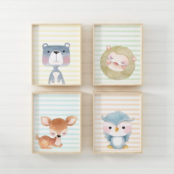 Hey, I found this really awesome Etsy listing at https://www.etsy.com/listing/495208794/nursery-animal-prints-set-of-4-prints