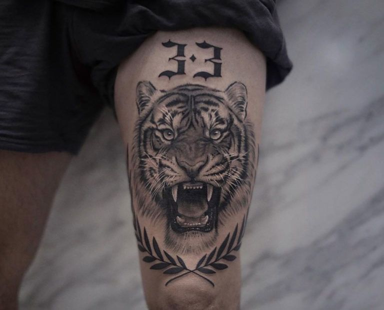 90 Tiger And Lion Tattoos That Define Perfection Tattoos For Guys Badass Lion Tattoo Tiger Tattoo Thigh