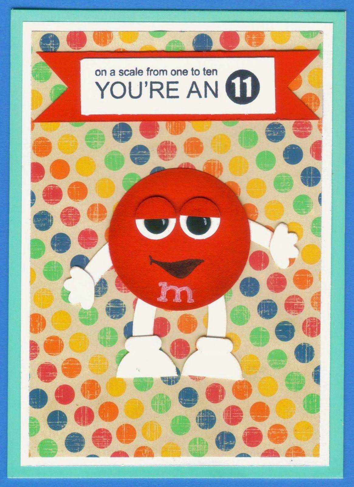 M&m card