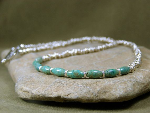 Turquoise Necklace  Choker Necklace  Silver Southwest Necklace by StoneWearDesigns