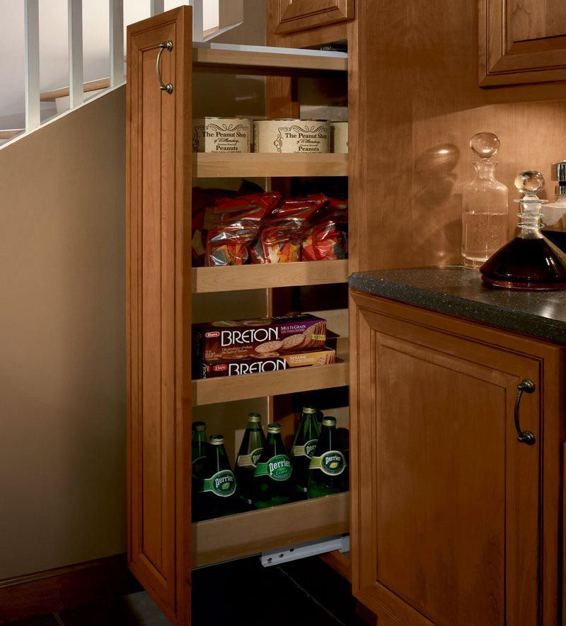 Storage Solutions Details Tall Pantry Pull Out From