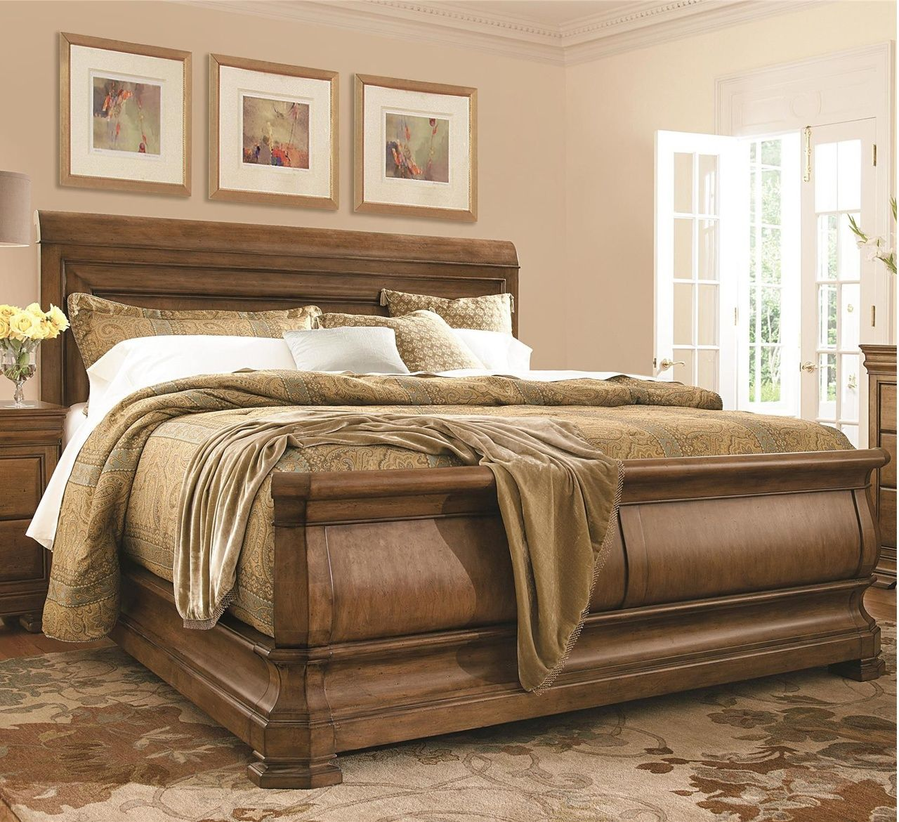 Louis Philippe Solid Wood Queen Sleigh Bed Universal Furniture