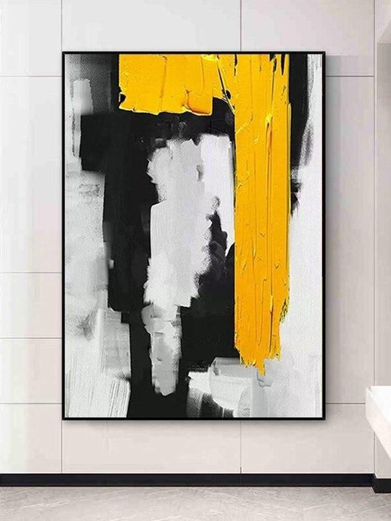Photo of Modern Abstract Painting | Palette Knife Painting Abstract | Large Painting Office Wall Art