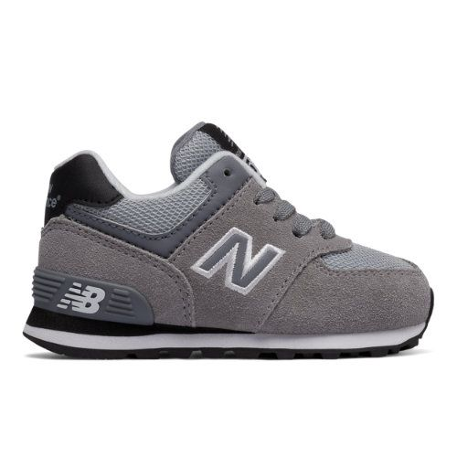 79cba37455f4 574 New Balance Kids  Infant Lifestyle Shoes - Grey Black (KL574CII ...