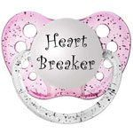 Heart Breaker Pacifier Available in pink and by MomandBabyBoutique