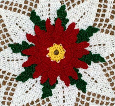 Free Crochet Christmas Doily Patterns Crochet Christmas Floral