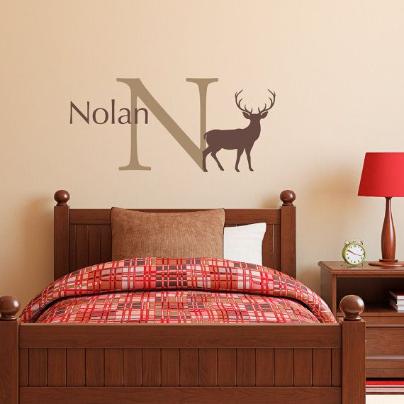 Buck Initial Name Wall Decal Set  Hunting Decal by StephenEdwardGraphic on Etsy