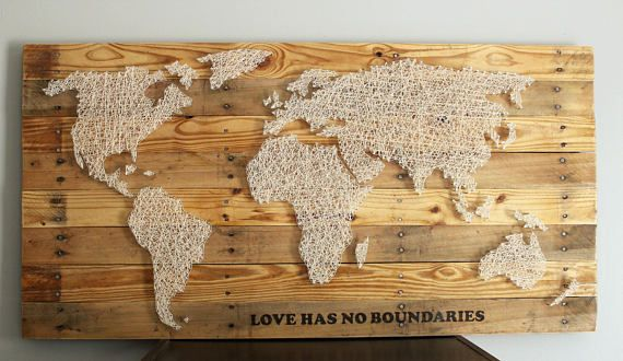 World map string art the traveling woodworker pinterest string world map string art gumiabroncs Gallery