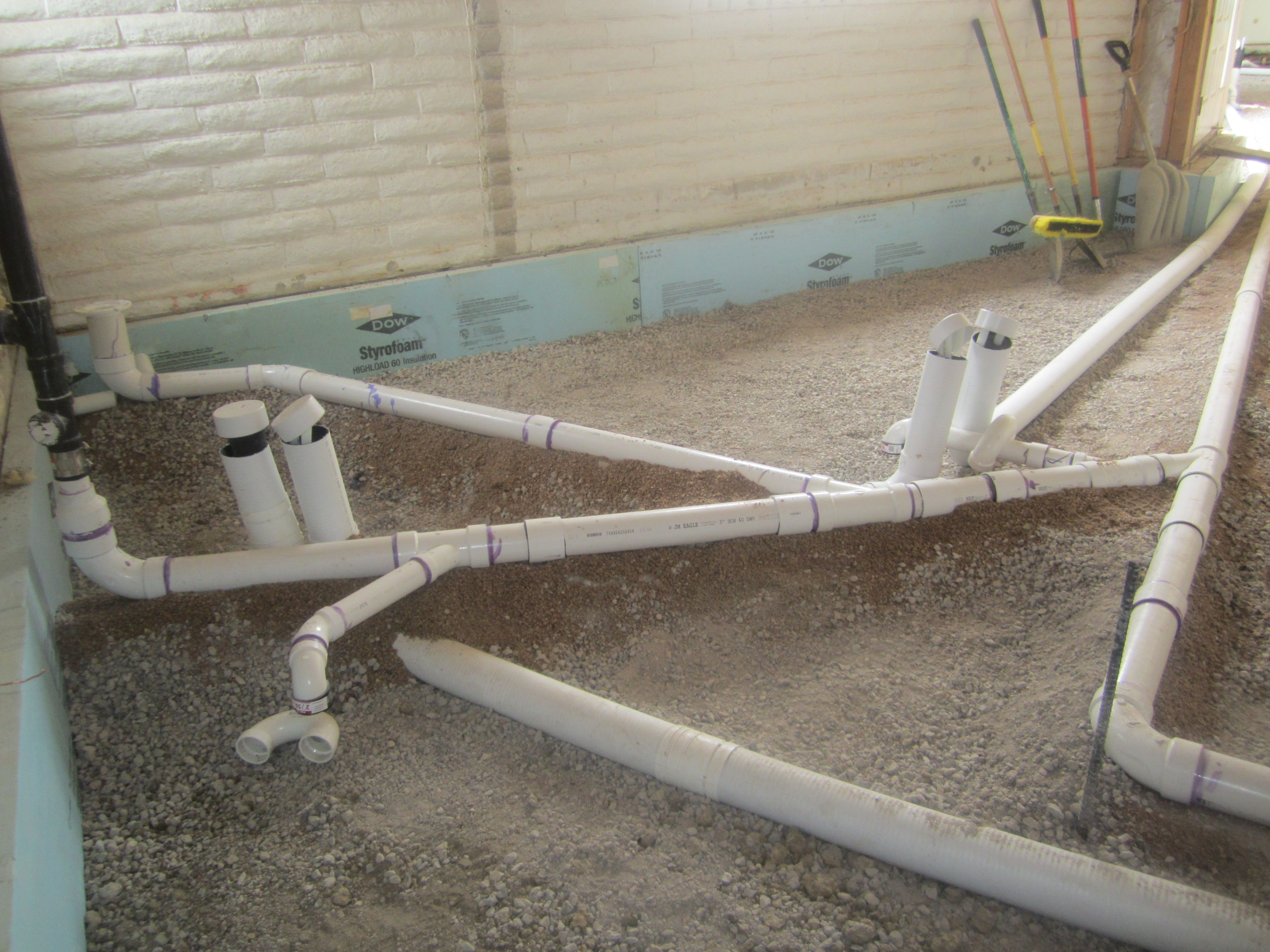 bathroom plumbing diagram concrete slab [ 4000 x 3000 Pixel ]