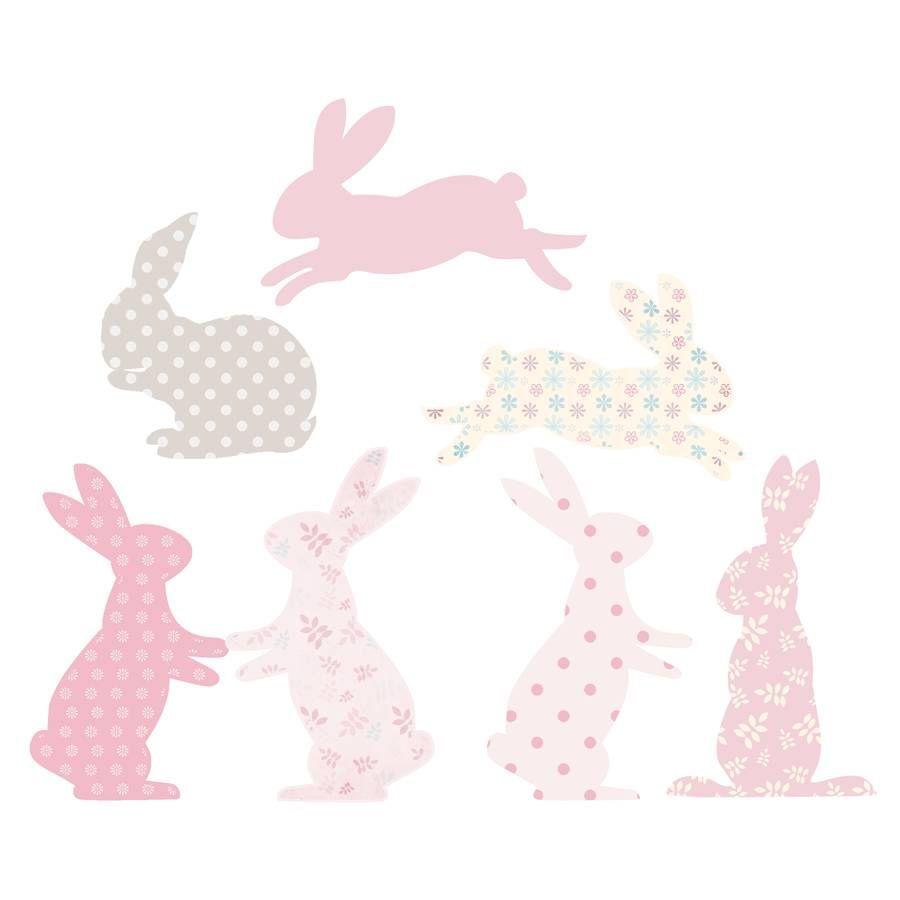 fabric rabbit wall stickers wall sticker rabbit and spin rabbit fabric wall stickers