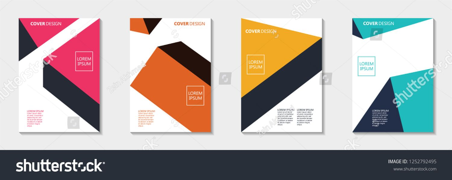 Cover Design Template Abstract Book Cover Design In 2020 Pamphlet Design Book Cover Design Design Template