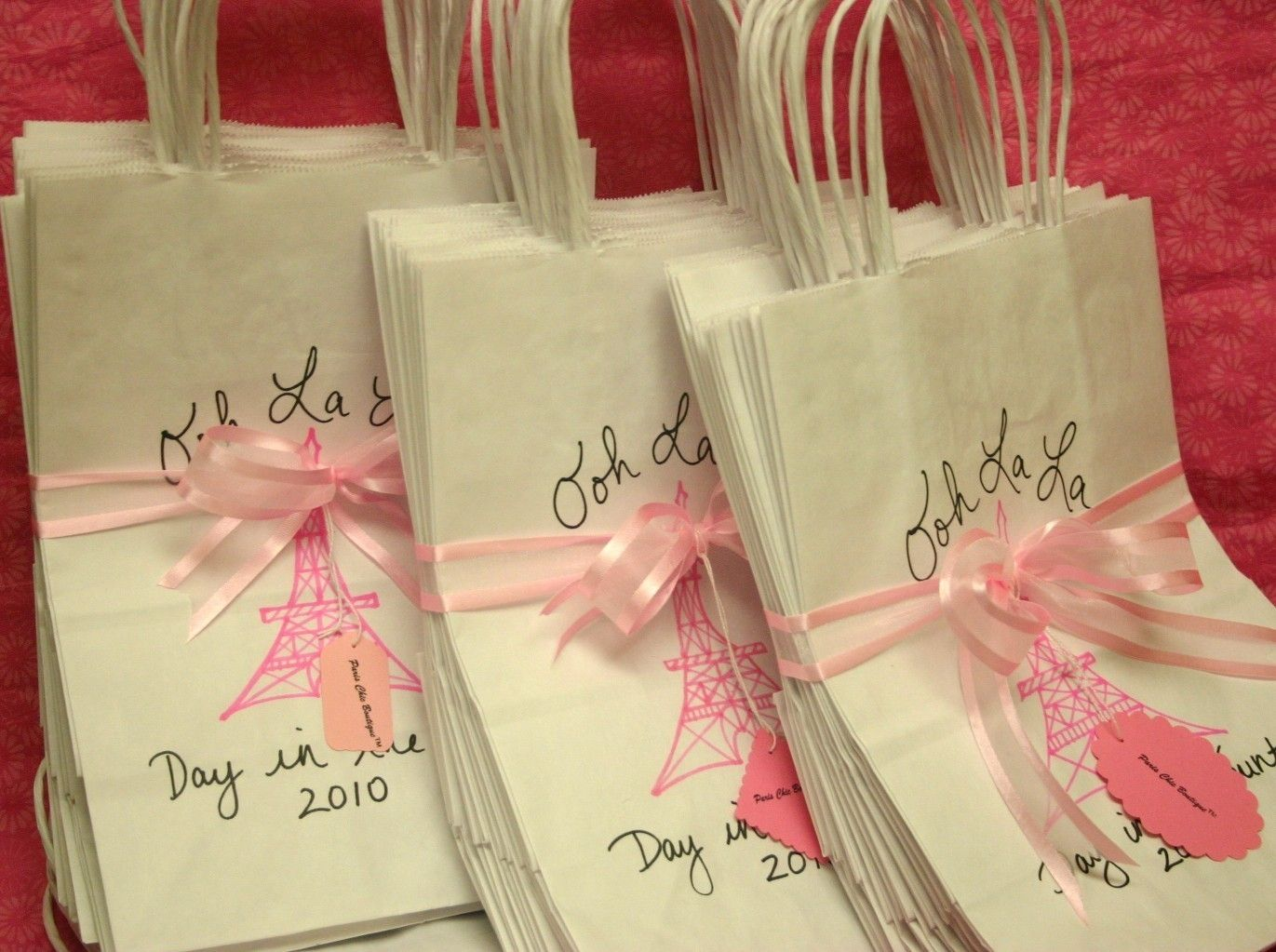 Parisian Theme Party Favors Personalized Paris Themed Favor Bags Eiffel Tower