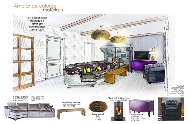 Planche deco planches d co croquis architecture interieur design et dessin architecte - Dessin d interieur de maison ...