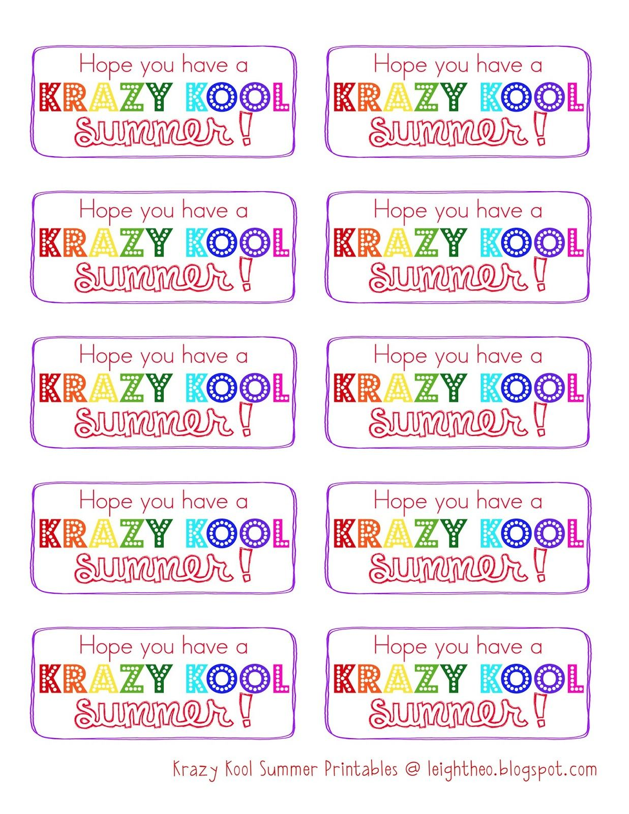 image regarding Have a Kool Summer Printable identify Contain a Krazy Kool Summertime---pack of Kool-assistance Krazy Straw