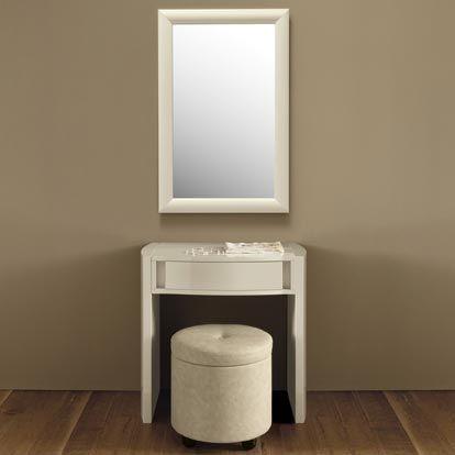 Valdina cream high gloss small modular dressing table qq7i for Small dressing table