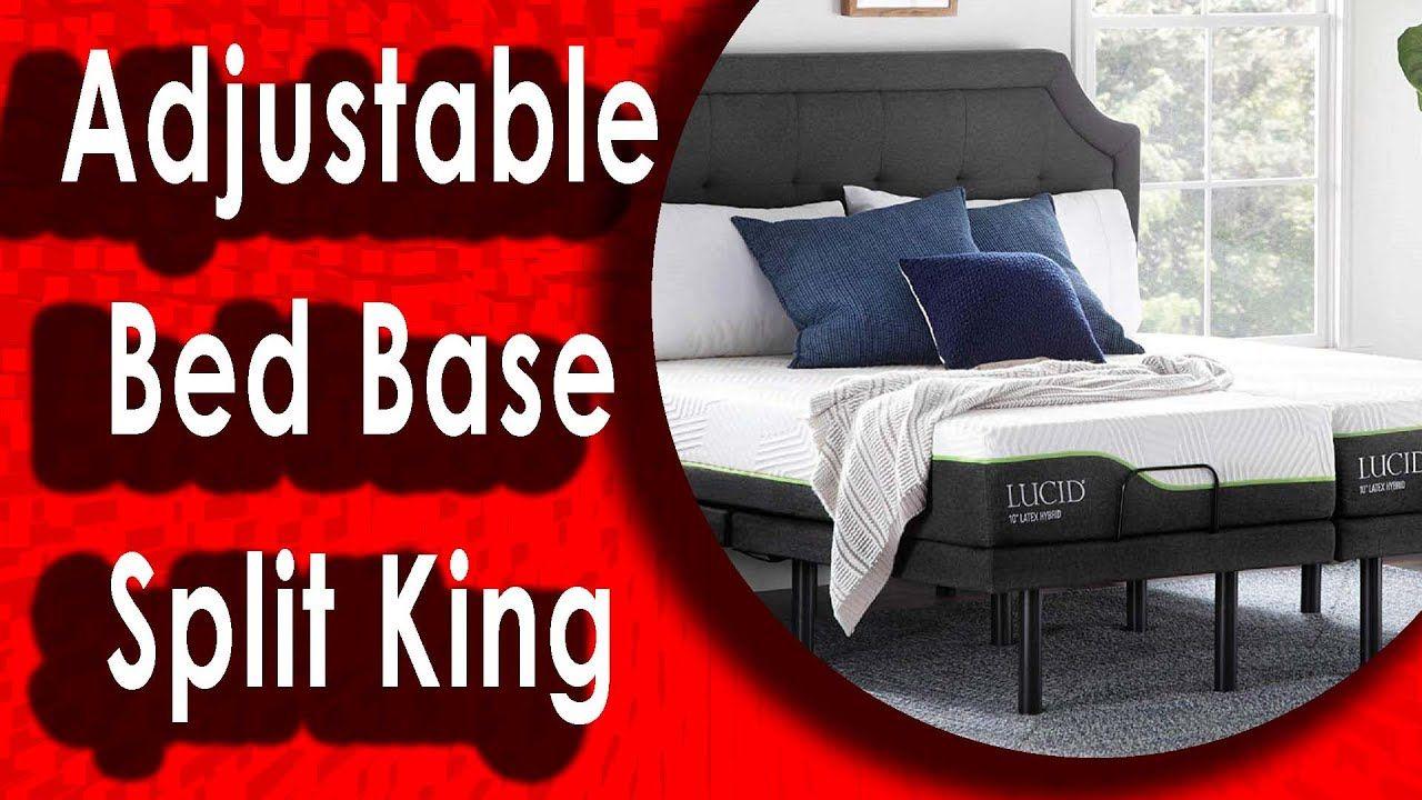 Best Lucid L300 Adjustable Bed Base Split King In 2020 Adjustable Beds Adjustable Bed Base Bed