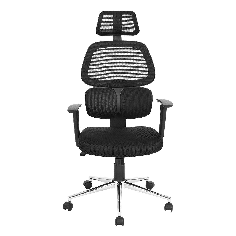 Ergonomic mesh office chair high back swiver computer desk