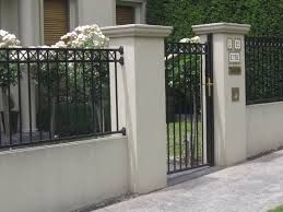 Wrought Iron Fence On Top Of Block Wall Google Search Front