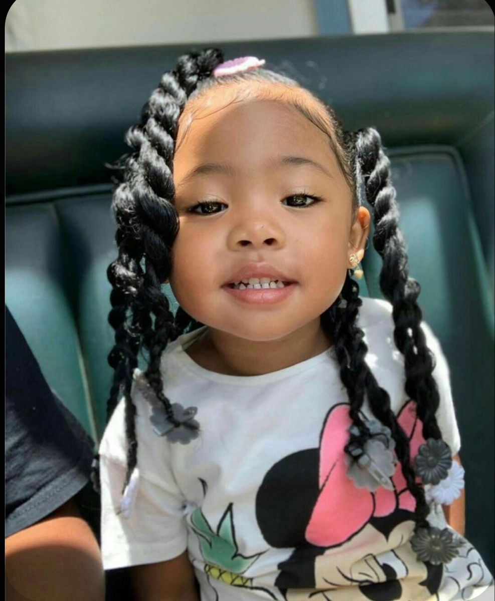 Pin by Keezy Harris on F E V A ✨   Baby girl hairstyles, Baby ...