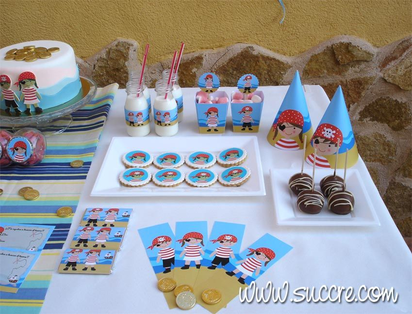 Mesa Dulce Una Fiesta De Piratas Cakes And Cookies Made