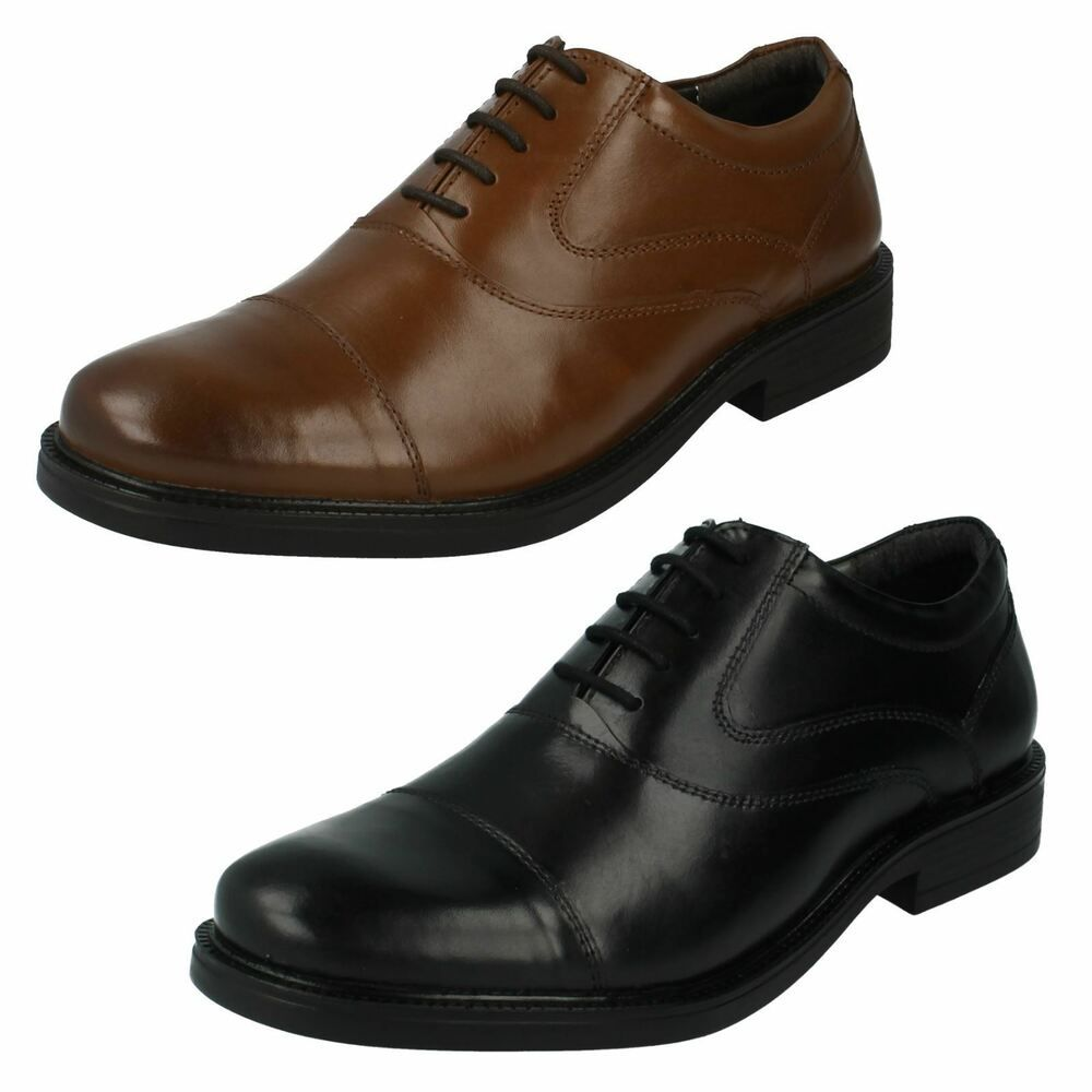 Mens Leather Black Tan Hush Puppies Shoes Uk Sizes 6 12 Rockford Oxford Dress Shoes Men Dressshoes Mendre Dress Shoes Men Hush Puppies Shoes Formal Shoes