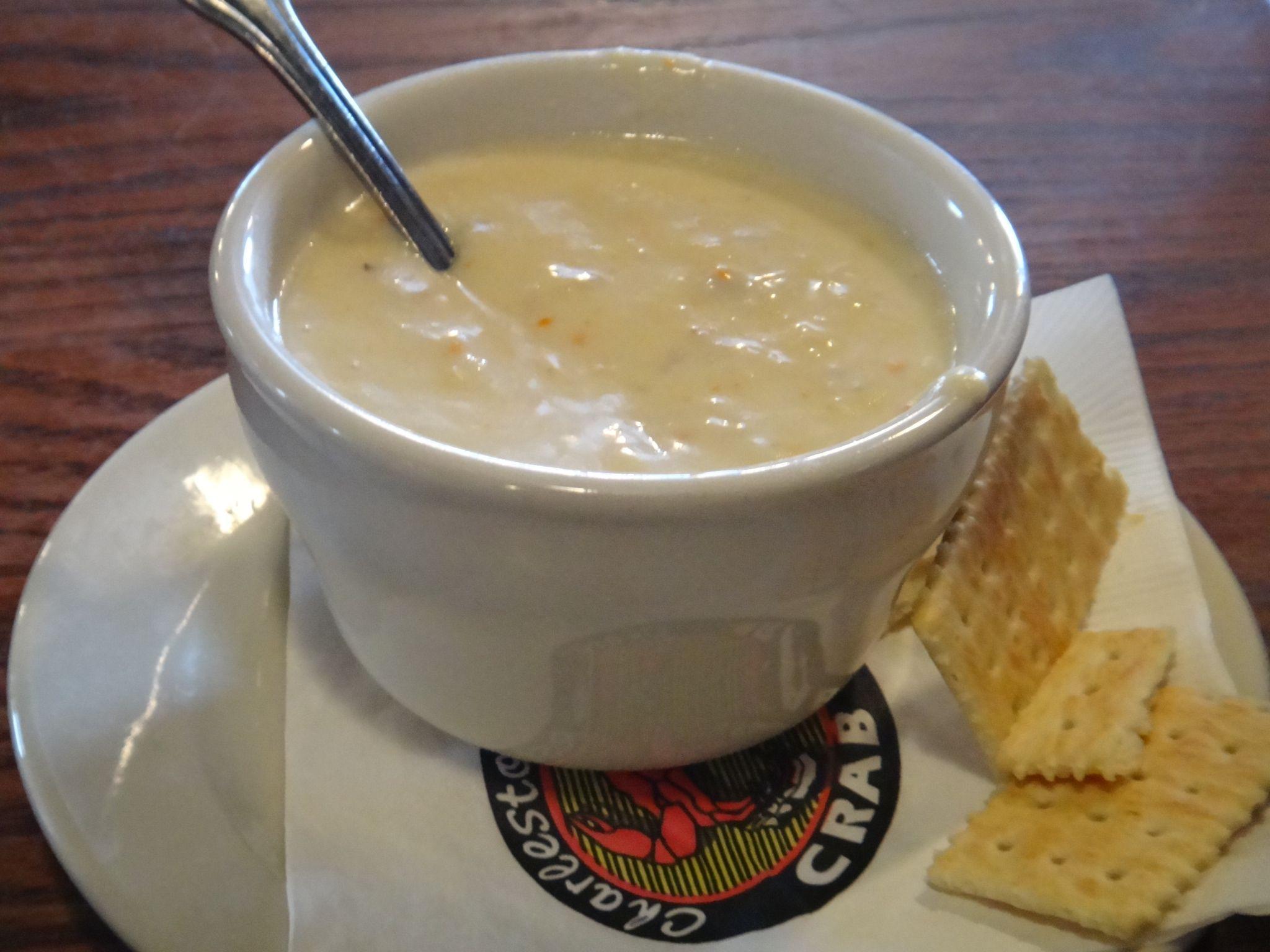 She Crab Soup at Charleston Crab House Charleston SC