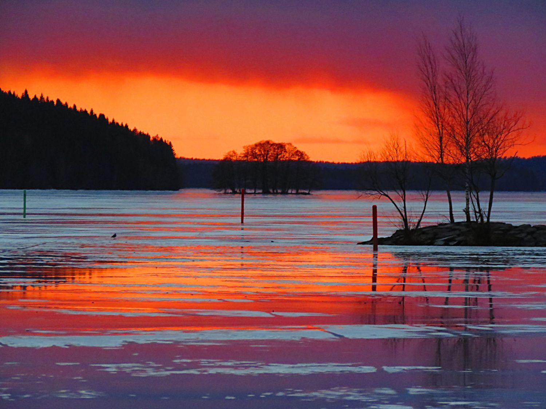 Sunset like a painting. Finland Kalevi Elmala