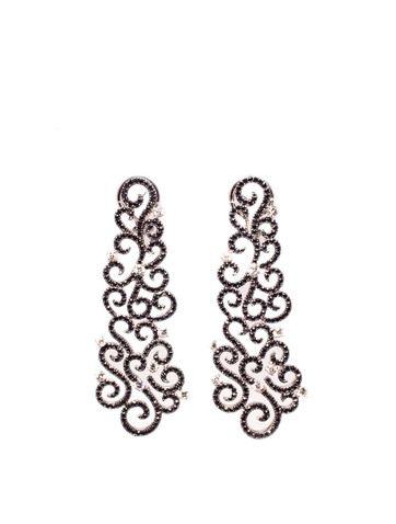 Diamond chandelier earrings 5425 18k white gold chandelier diamond chandelier earrings 5425 18k white gold chandelier earrings with black and white diamonds aloadofball Images