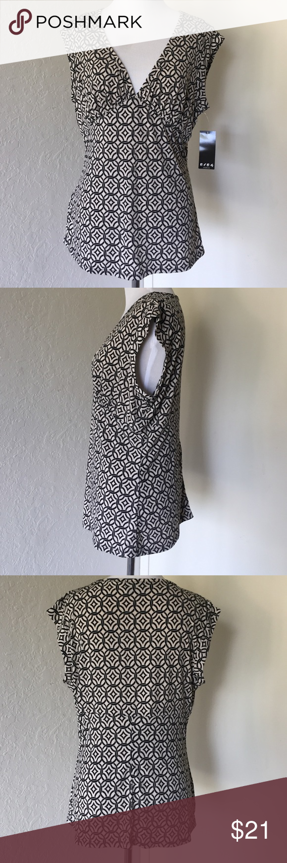 BCBG Sleeveless V-Neck Top Excellent condition. Knit Too. Matte Jersey. BCBG Tops