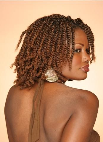 Twisted hairstyle with color for black women | Twist | Pinterest ...
