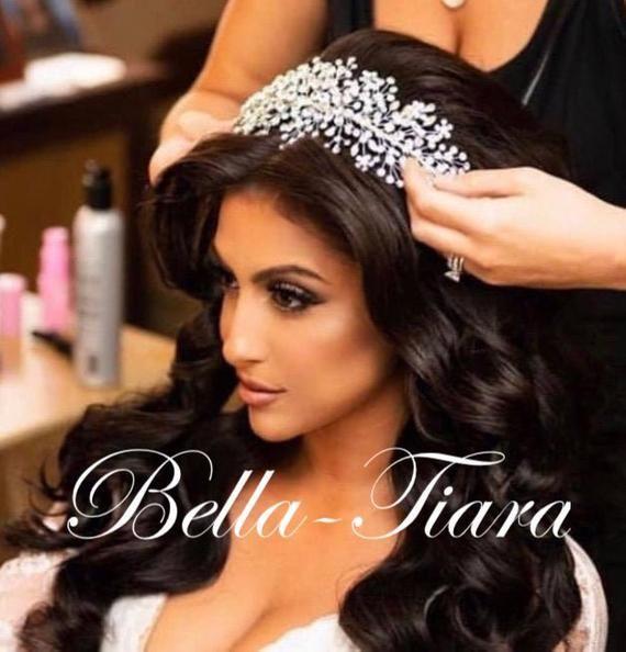 Crystal hair vine, wedding hair vine, crystal wedding headband, wedding headpiece, bridal headpiece, swarovski crystal wedding headpiece