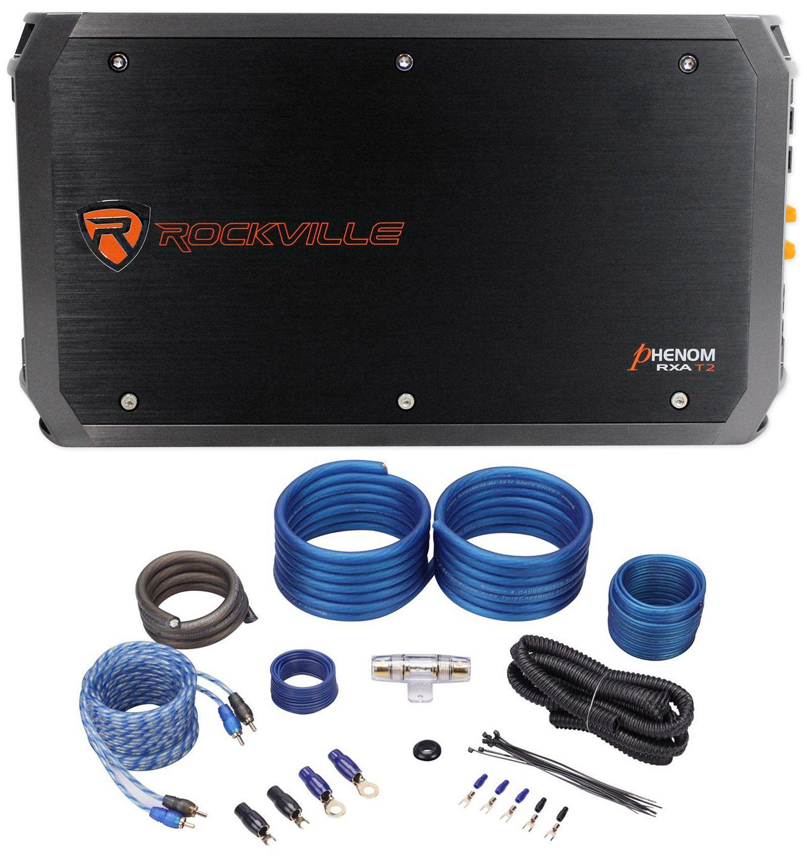 Package: Rockville RXA-T2 2400 Watt 2-Channel Amplifier + Rockville ...
