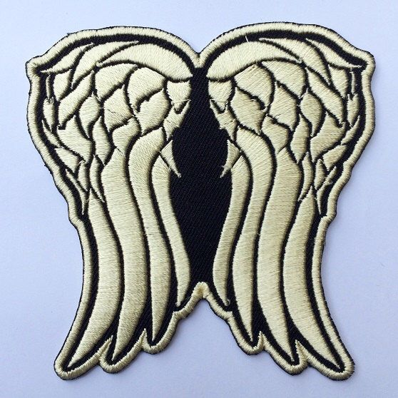 Daryl Dixon Wing Patch The Walking Dead Embroidered Iron on / Sew on Badge Emblem Style #2 by 1978heavenpatches on Etsy https://www.etsy.com/listing/485317509/daryl-dixon-wing-patch-the-walking-dead