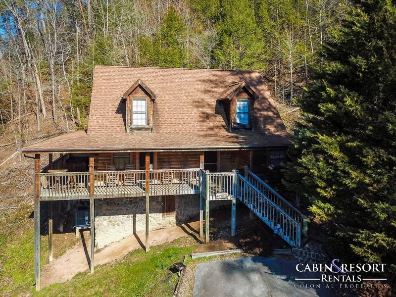 Pigeon Forge Cabins Whispering Pines Lodge Cabin Pigeon Forge Cabins Hot Tub Outdoor