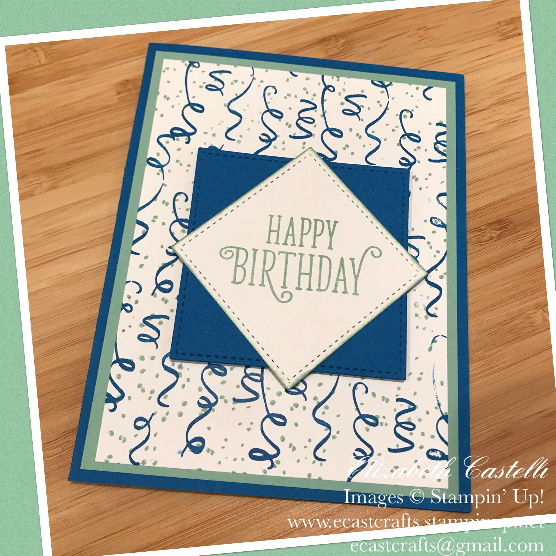 Stampin Up Birthday Backgrounds Card By Elizabeth Castelli Ecastcrafts Stampin Up Birthday Cards Birthday Greetings For Kids Kids Birthday Cards