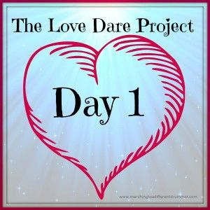 """I'm working my way through the books """"The Love Dare"""" and """"The Love Dare for Parents"""" to learn more about God's love for me and how to express it better to my family. Join me... I dare you..."""