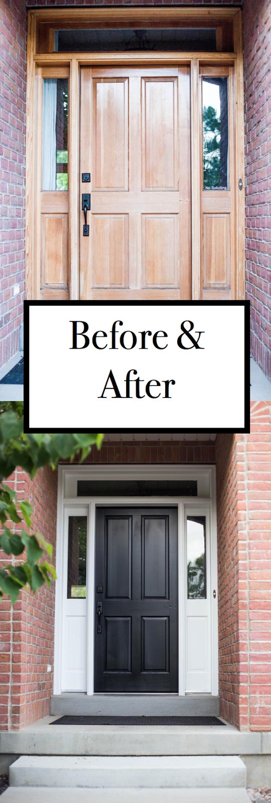 Do It Yourself Divas Diy How To Refinish Front Door Black Front