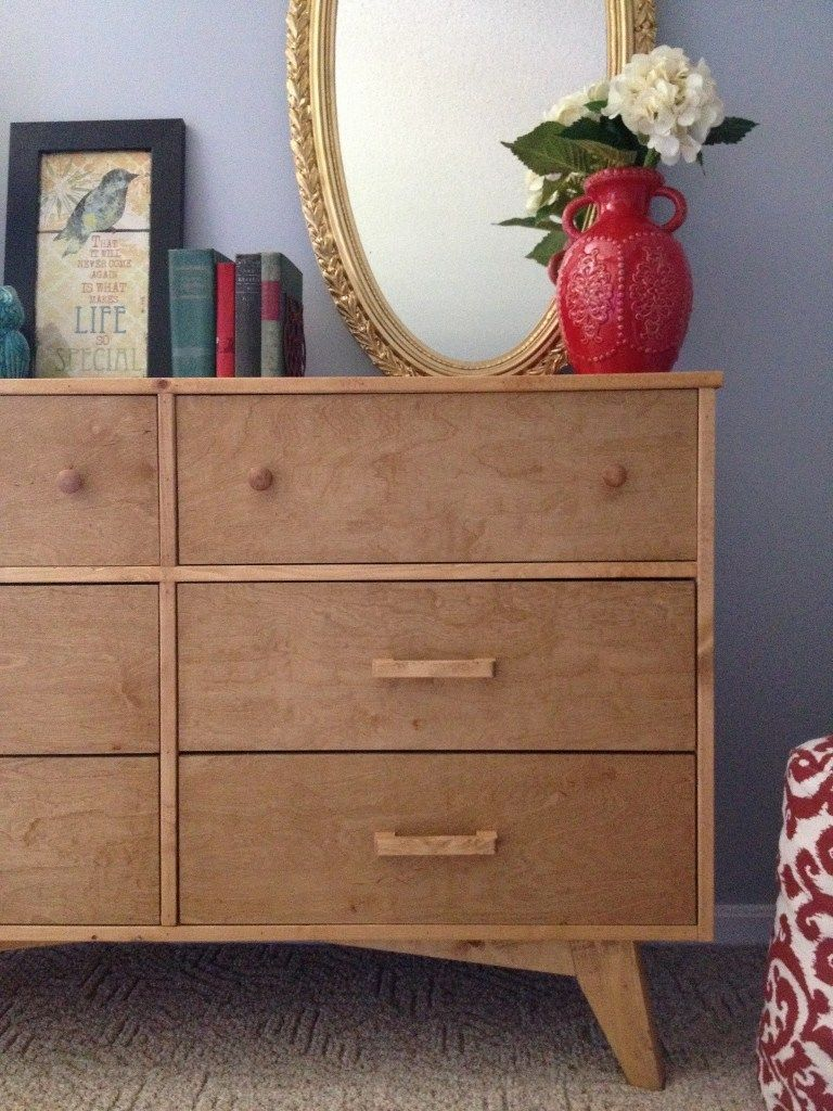 How To Make A Diy Mid Century Dresser Base With Round Legs Diy Furniture Projects Mid Century Dresser Diy Dresser