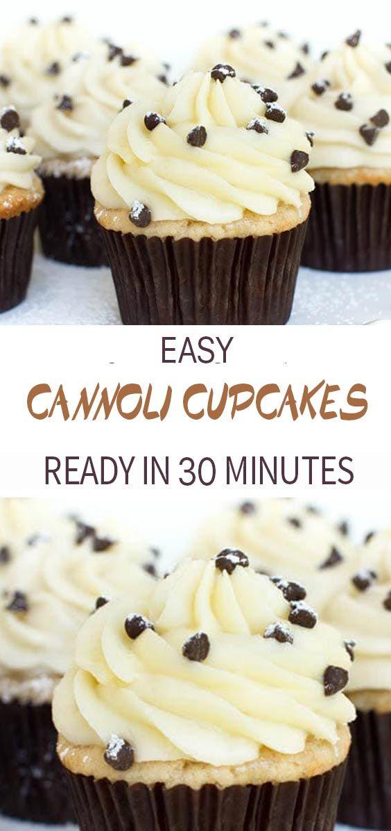 Cannoli Cupcakes - Healthy Life