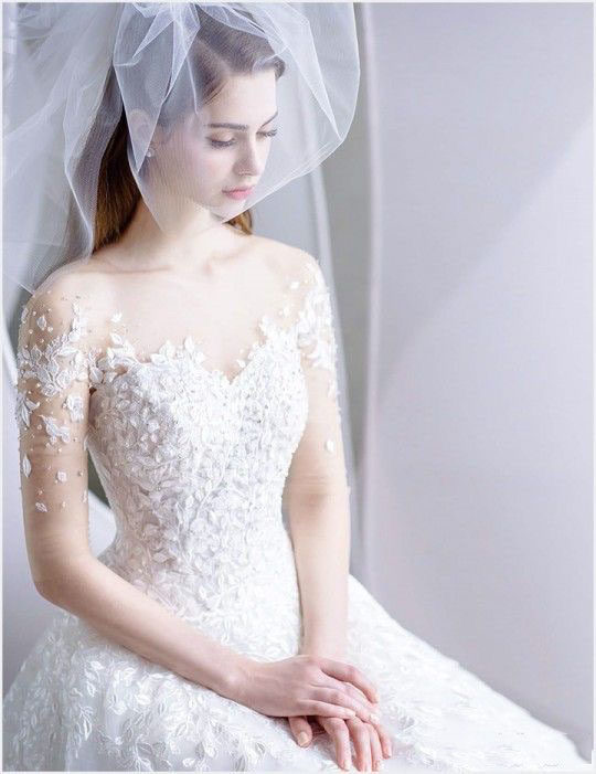 A Suitable Veil In The Wedding Can Make The Bride More Dazzling Page 17 Of 44 Hertsy Wedding Bridal Dresses Beautiful Wedding Dresses Wedding Dresses