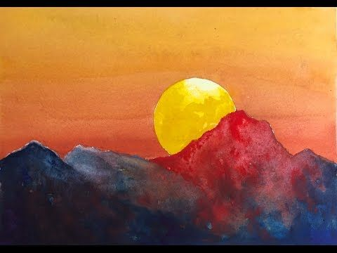 How To Paint A Dramatic Sunset With Watercolor Easy Tutorial Yo