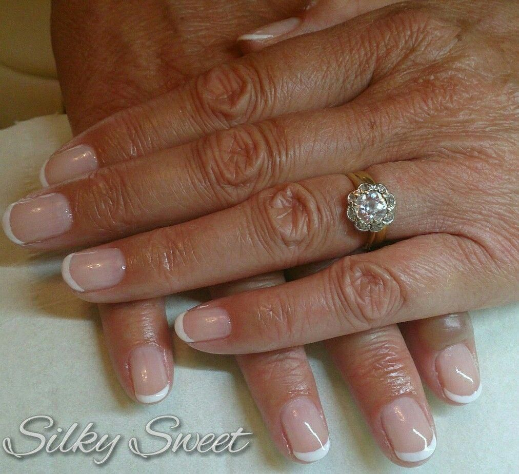 Faded French Nails With Marble Americanfrenchnails French Tip Nails French Nails Nails