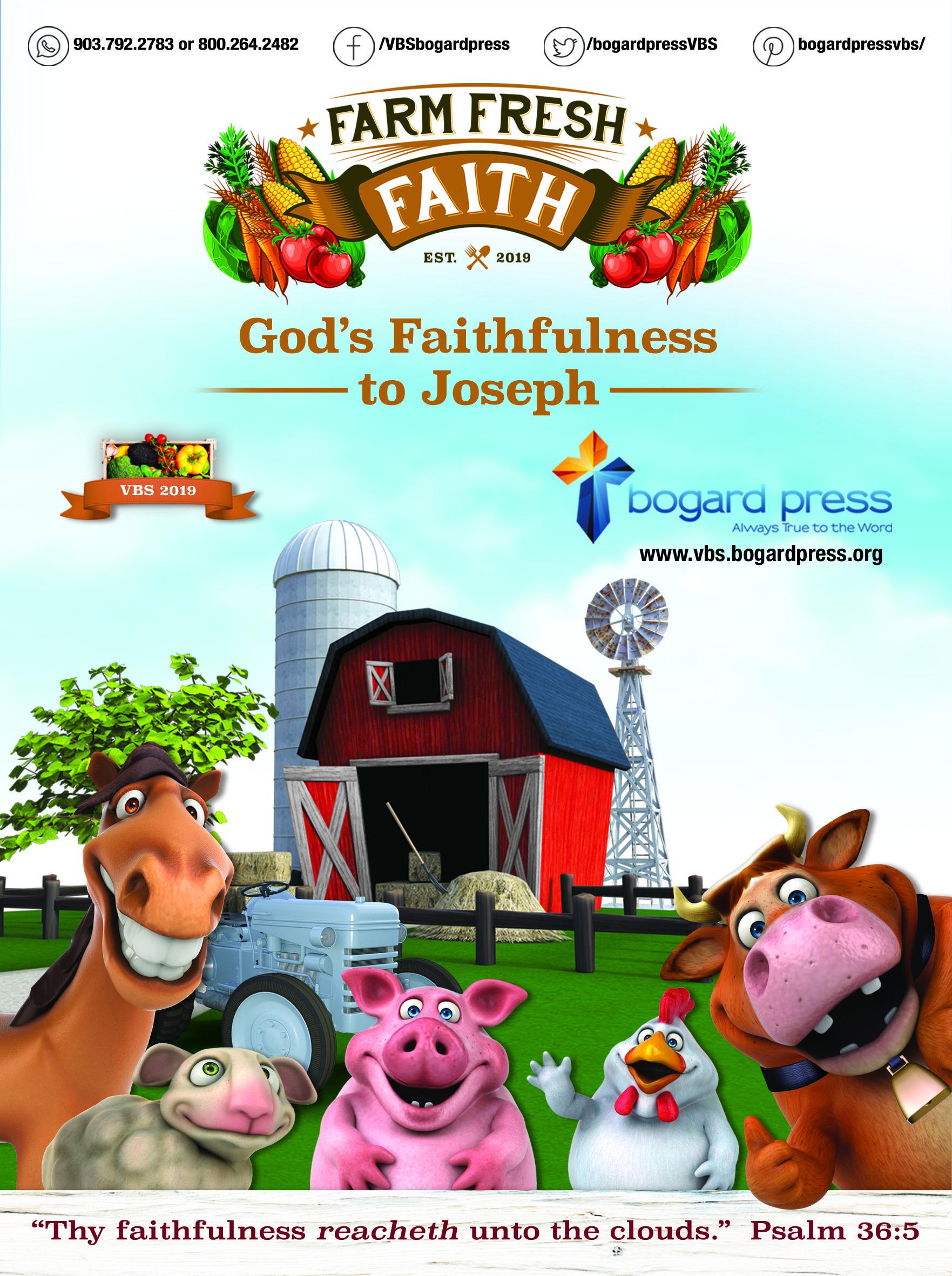 Vbs Farm Fresh Faith God S Faithfulness To Joseph Vbs